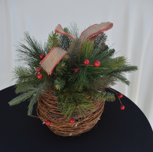 Close up of a Christmas decoration.