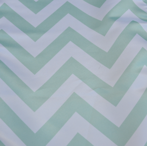 Close up of a mint white table runner.