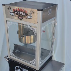 Close up of a popcorn machine.